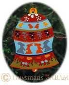 décor de Pâques cloche peinte en carton - Arts et sculpture: artistes peintres, sculpteurs