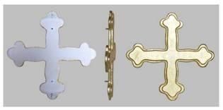 Restauration d'une enseigne en pierre: croix dorée - Arts et sculpture: sculpteur mouleur