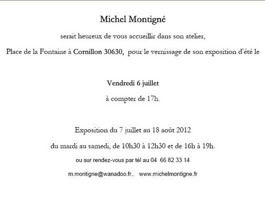 Invitation Michel Montigné 1