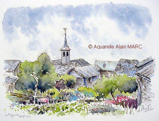 La Mazure aquarelle Alain MARC