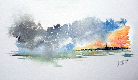 Aquarelle Jacques ALBERT-B