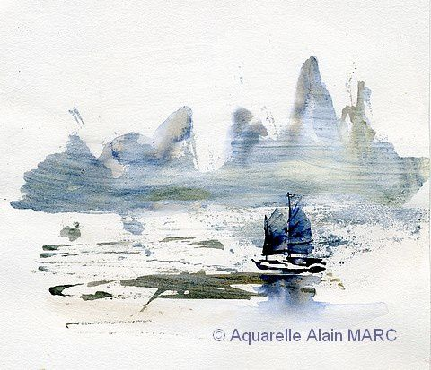 Rencontre aquarelle