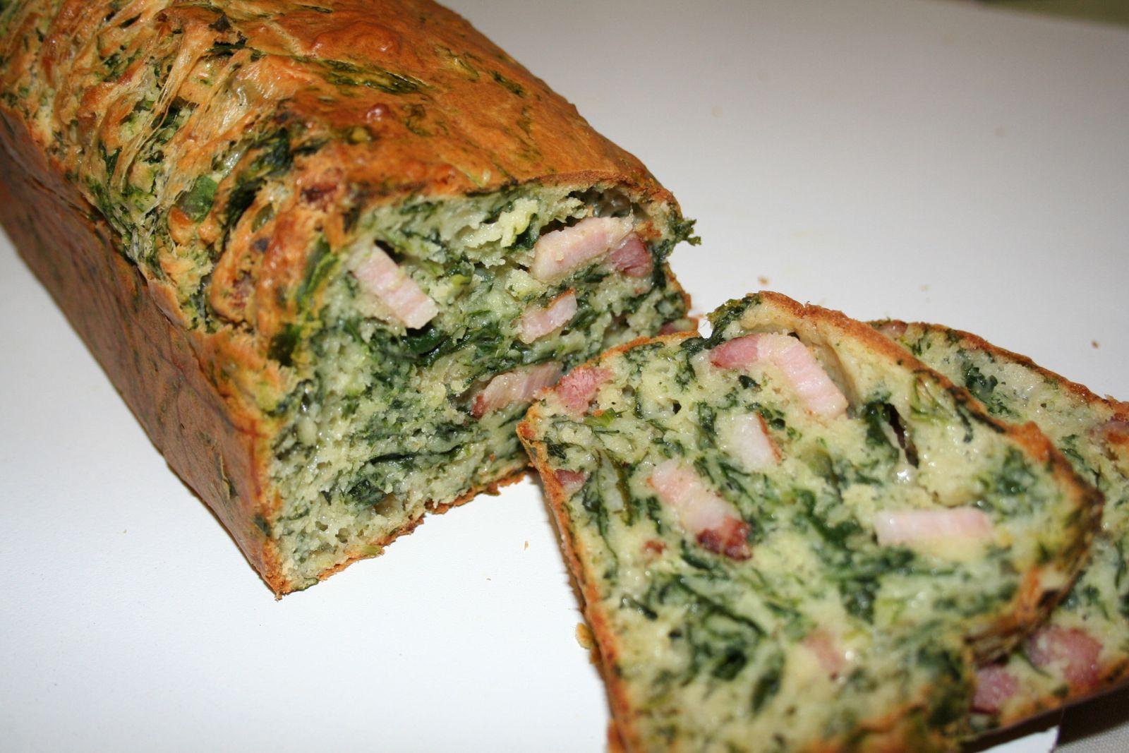 Cake Aux Lardon Epinards