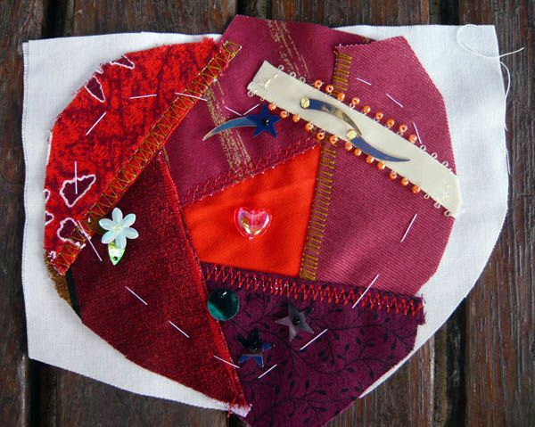 Coeur crazy rouge 3-embellishment