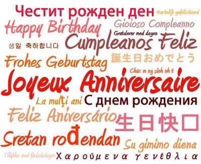 bon anniversaire langues