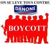 autocollant on se l ve tous contre danone