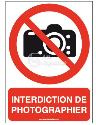 Interdiction de photographier-ERTY