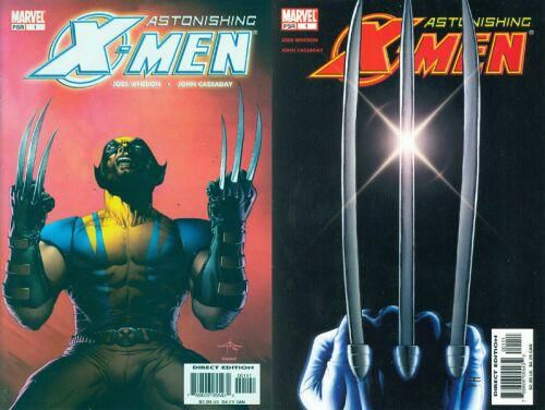 Les 2 versions de la couverture de Astonishing X-Men #1