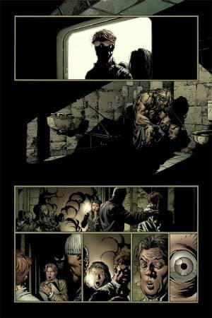 Matt Murdock, Jessica Drew, Foggy Nelson et Luke Cage viennent voir un prisonnier très spécial... (cliquer pour agrandir)