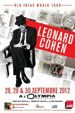 345 leonard cohen olympia affiche