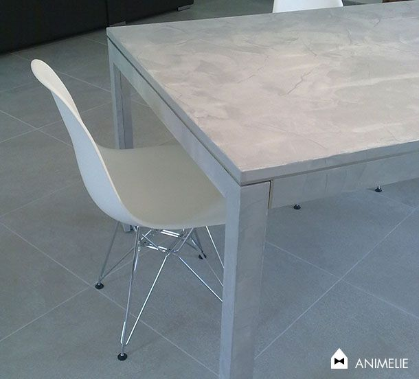 Deco design b ton cir animelie le blog - Faire une table en beton cire ...
