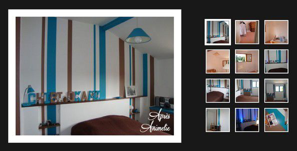 chambre turquoise et marron animelie le blog. Black Bedroom Furniture Sets. Home Design Ideas