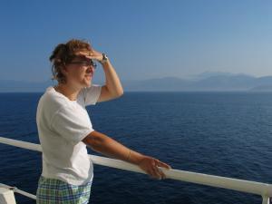 (photo de grèce en 2005 : arrivée)