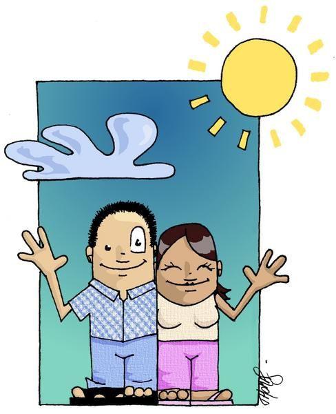 Illustration vacances colorisé avec the gimp