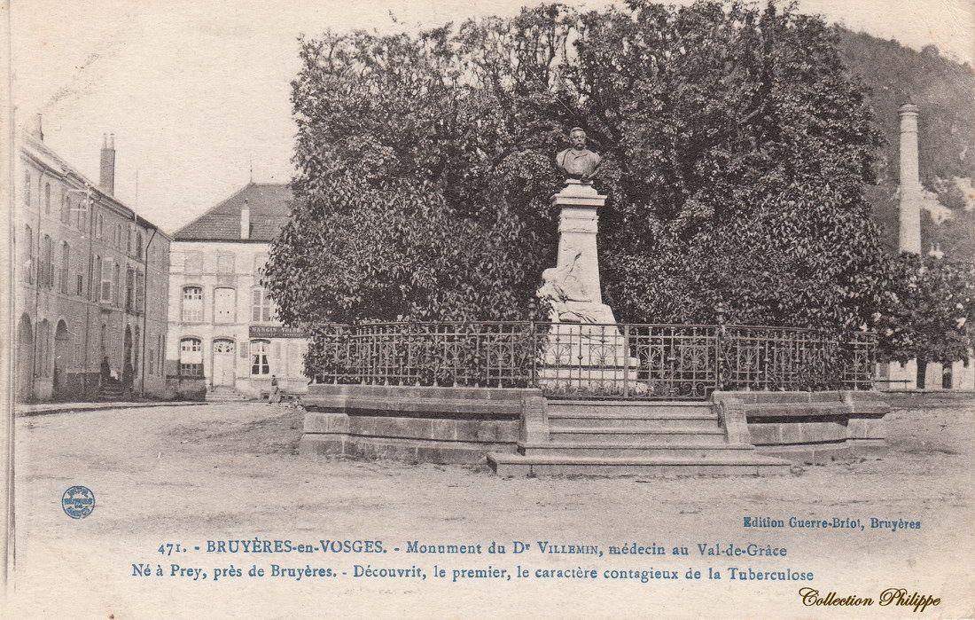 CPA BRUYERES Monument VILLEMIN
