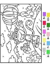 Coloriage Nombre.Coloriage A Nombre Le Blog Dora Explorer
