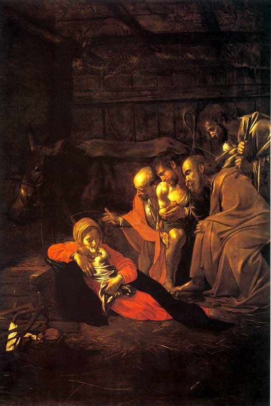 The Adoration of the shepherds Caravage 1609