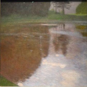 Klimt un matin sur l'étang