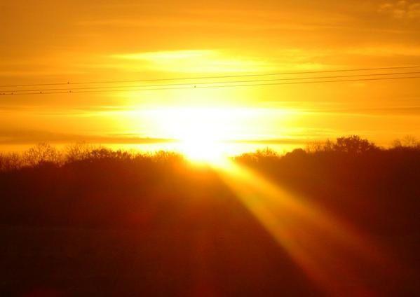 Levé de soleil ce matin ;-)