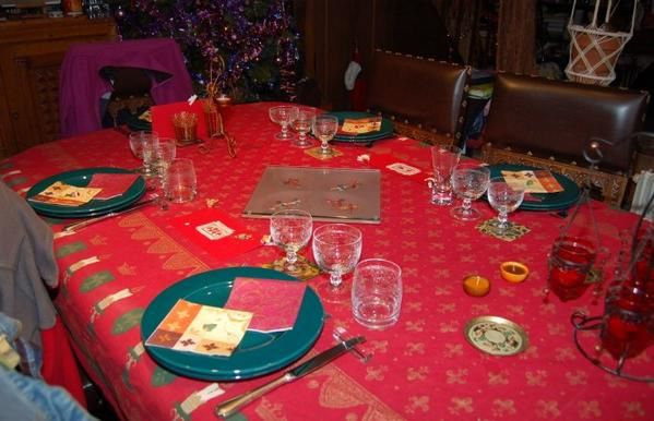 Table du jour de Noël