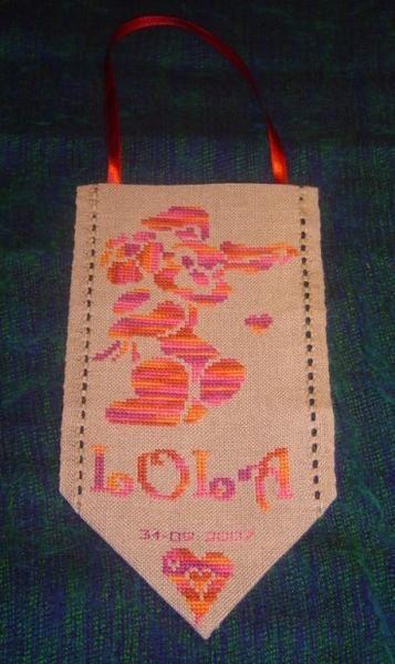Petite bannière de naissance pour Lola ;-)