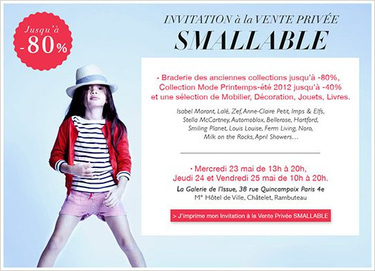 vente privée smallable mai 2012