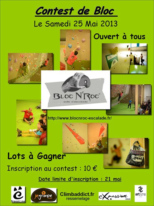 Vitrolles BLoc N Roc Contest du 25 mai 2013 Affiche red