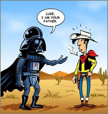 I AM YOUR FATHER -lucky luke