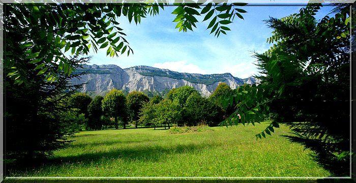 Le massif de la Chartreuse est magnifique en cette fin d'été