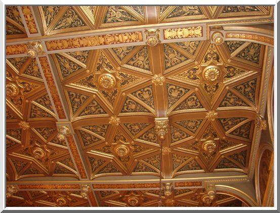 Magnifique plafond à caissons