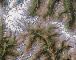"Photo ""Google Earth"" de cette route du Grossglockner..."