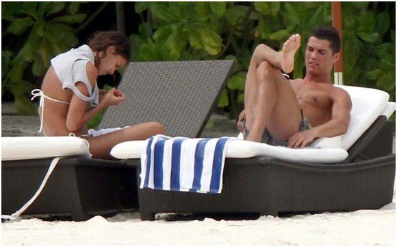 Cristiano Ronaldo Shirtless at the beach