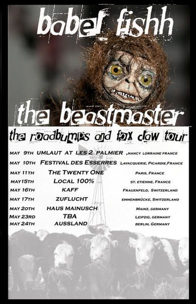 Flyer tournée Babel Fishh & The BeastMaster