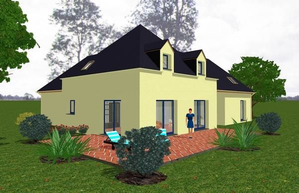 Plan et dessin maison 3d transformation am nagement for Exterieur maison 3d