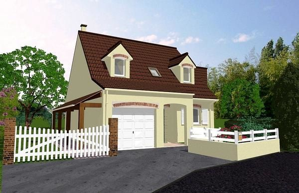 Extension d 39 un pavillon plan et dessin maison 3d for Creation maison 3d