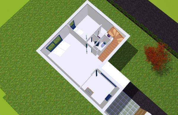Vue de dessus projet plan et dessin maison 3d for Projet maison 3d