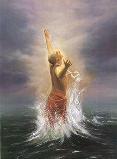 Caitanya Mahaprabhu en extase d'amour de Dieu