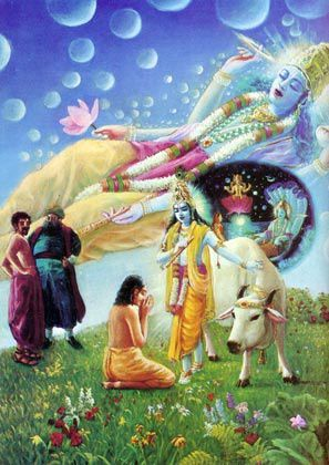 Les sots dénigrent Krishna, Le prenant pour un être ordinaire.