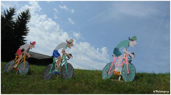 Tour de France-sur la route-entre Morzine et St Jean de Mau
