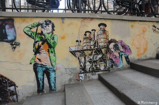 Jana und js-pochoir-Lezarts de la bievre-rue Jean de Beauva