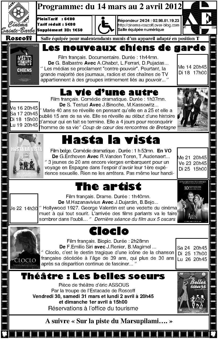 programme A4 mars 2012