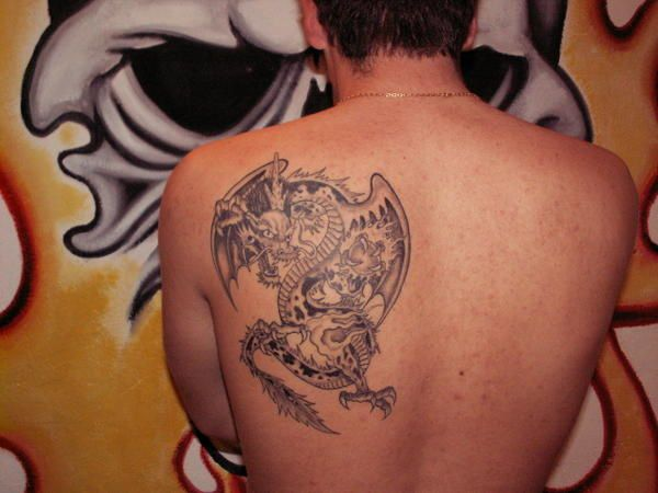 Tatouage D Un Dragon Ailes Le Blog Mayatattoo Par Maya