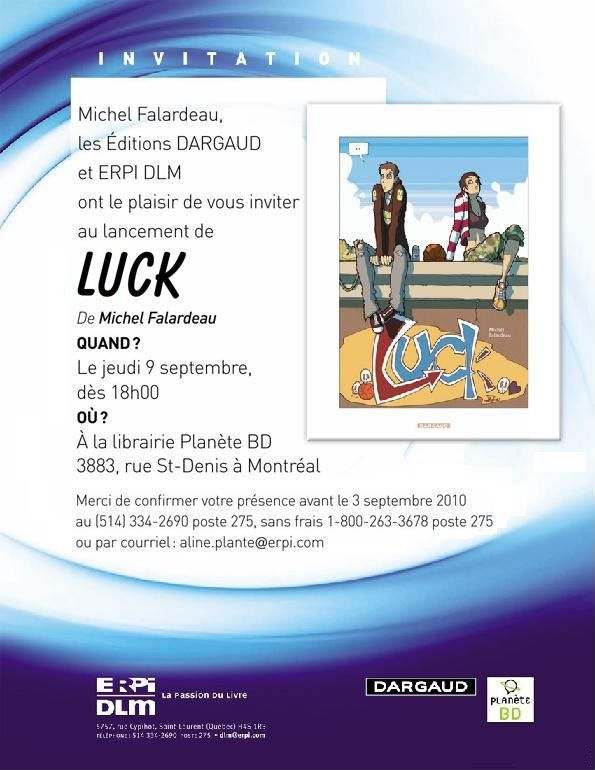 Invitation au lancement de Luck