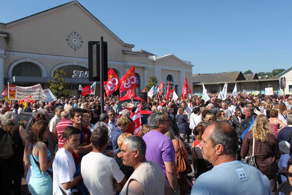 Manifestation intersyndicale du 24 juin 2010 à Dieppe, contre la réforme des retraites