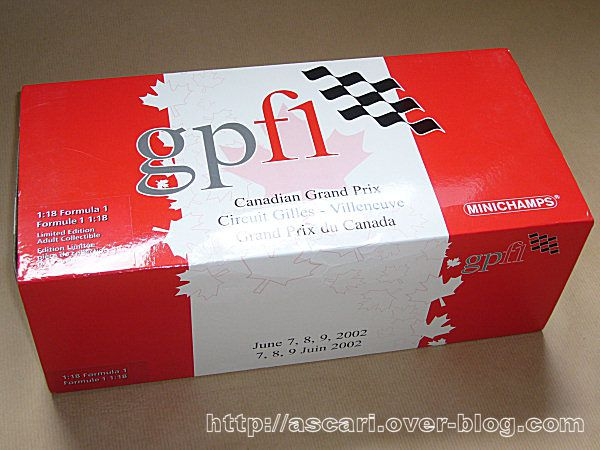 1-18 Ferrari F300 Canada event car 2002 inichamps 0