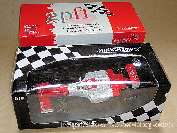 1-18 Ferrari F300 Canada event car 2002 inichamps 1