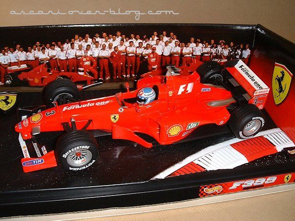 1-18 Ferrari F399 Mika Salo GP Spa Hot Wheels 1