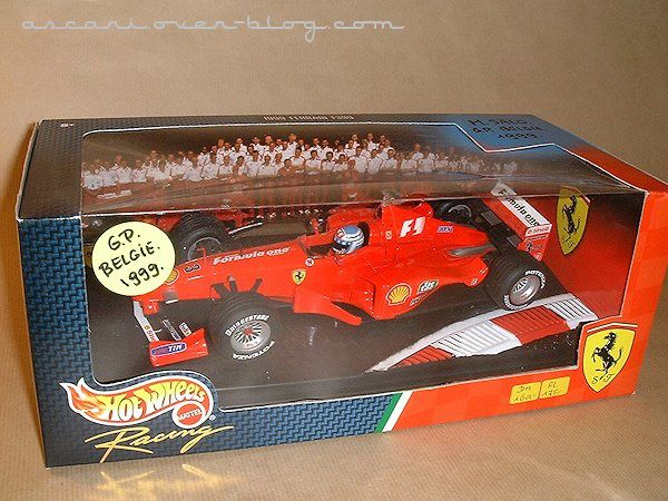 1-18 Ferrari F399 Mika Salo GP Spa Hot Wheels