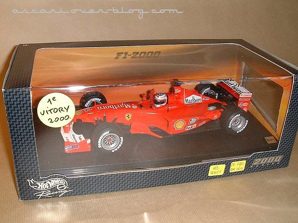 1-18 Ferrari F1-2000 Barrichello 1ere victoire Hot Wheels