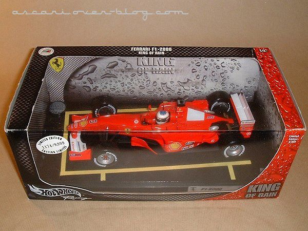 1-18 Ferrari F1-2000 King of rain Schumacher Hot Wheels